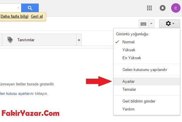 Gmail'e Gelen Maillerinizi Başka Mail Adresine Yönlendirme