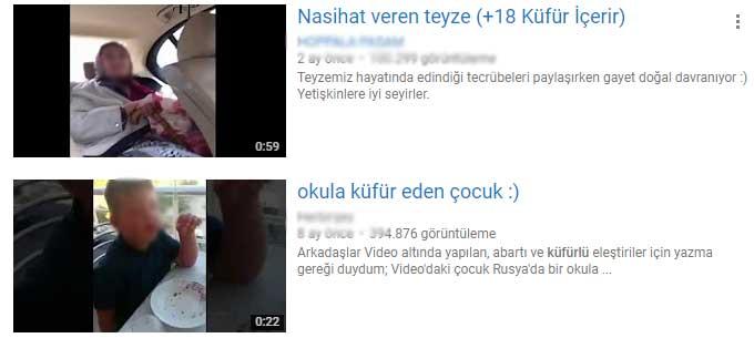 Küfürlü youtube içerikleri