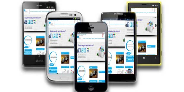 Mobile ve Tablet Arayüz Gogole Chrome