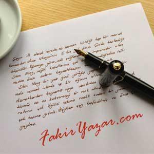 Beyaz Kağıt ve Kömür Karası Kalem