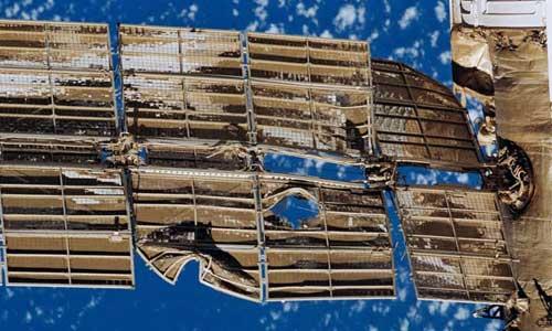 Mir Uzay İstasyonu Hasarlı