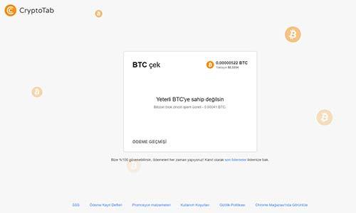 Crypto Tab ile Para Çekme İşlemi
