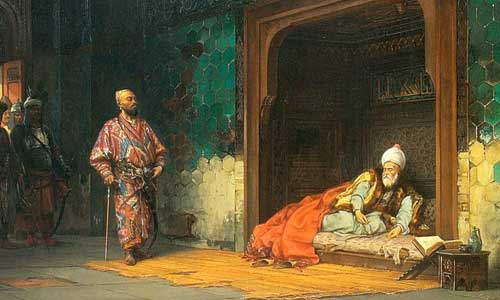 Timur'un Yıldırım Beyazıt'ı Esir Ziyareti